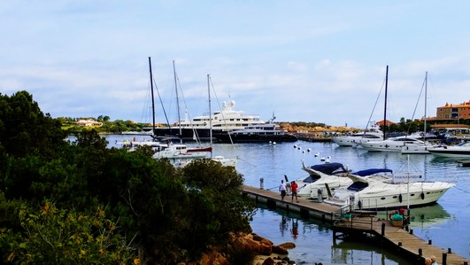 The marina in Porto Cervo