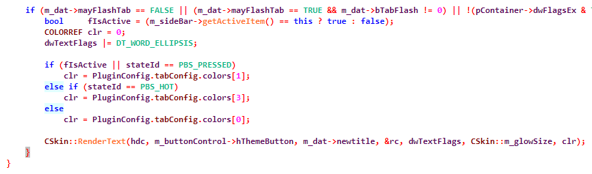 Improved syntax highlighting in Visual Assist X