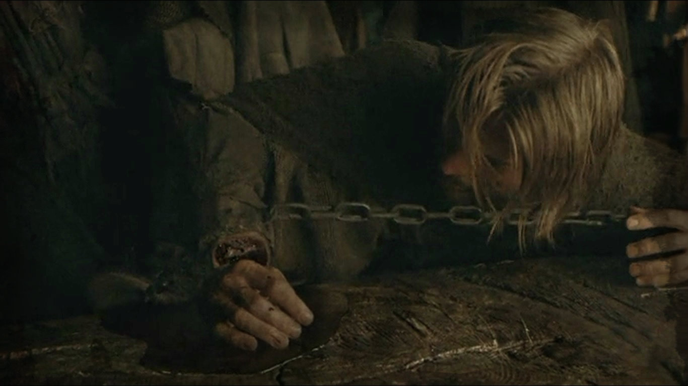 Jaime loses his sword hand - a character-defining moment.