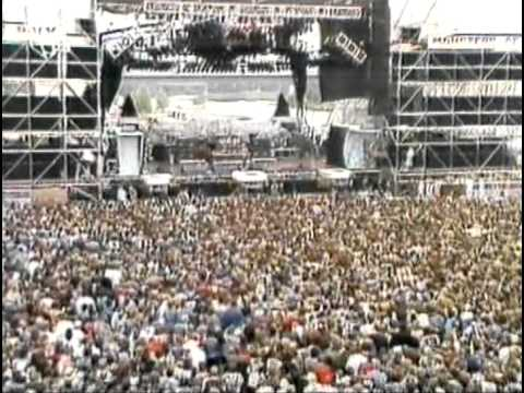 Great White performing at Monsters Of Rock 1988