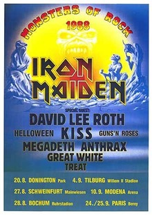 The official Monsters of Rock 1988 poster